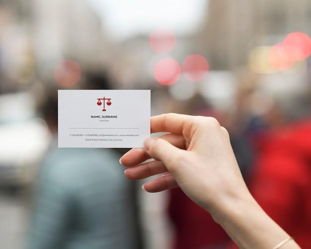 Maquete de cartão de advogado
