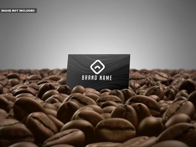 Maquete de cartão de café