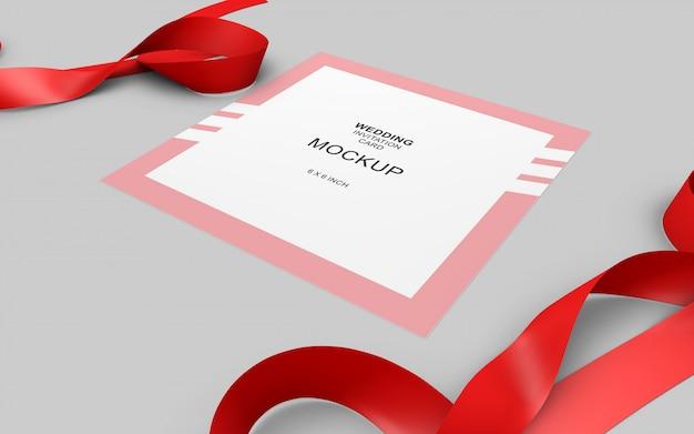 Maquete de cartão de convite linda weding