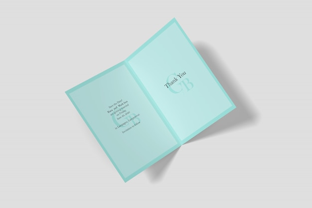 Maquete de cartão de convite