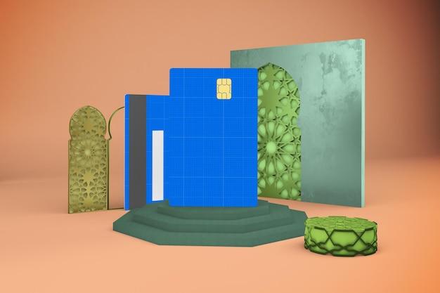 Maquete de cartão de crédito árabe