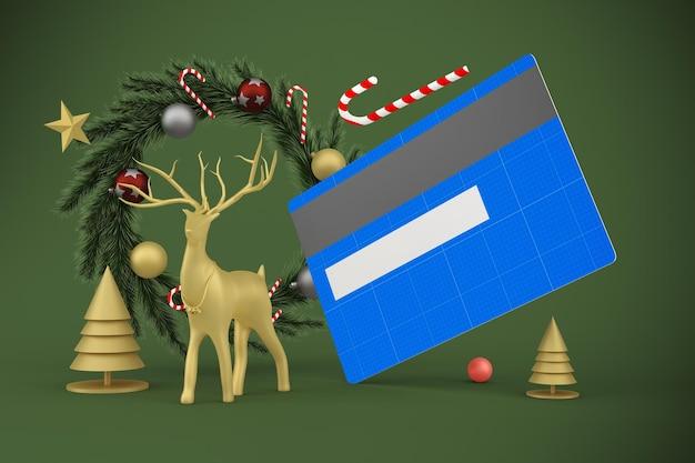 Maquete de cartão de crédito de natal