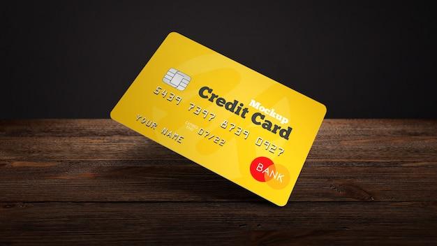 Maquete de cartão de crédito de plástico