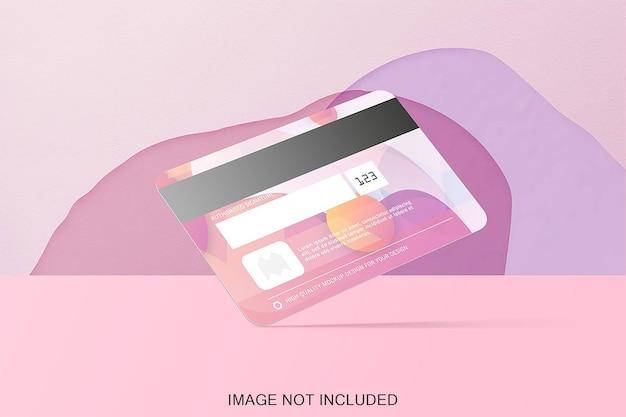 Maquete de cartão de crédito isolada