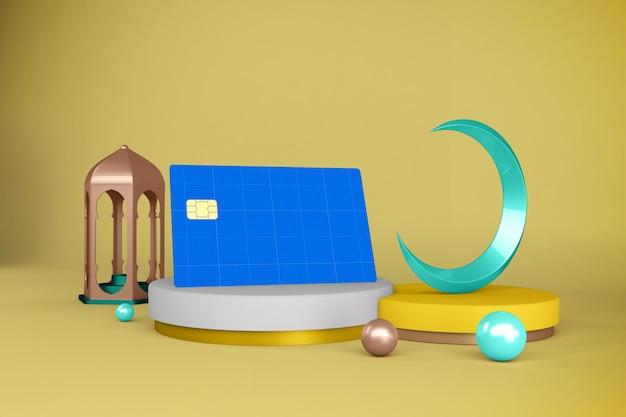 Maquete de cartão de crédito ramadan