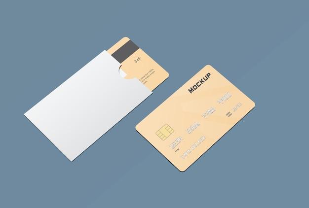 Maquete de cartão de débito inteligente com protetor