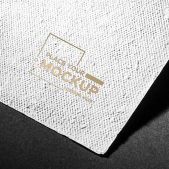 Maquete de cartão de identidade de marca