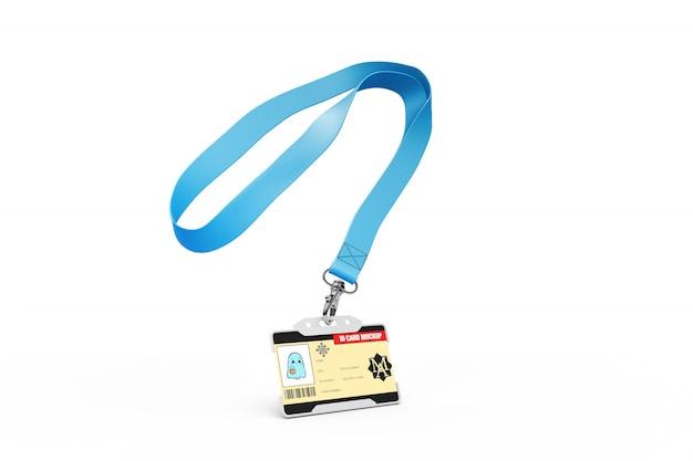 Maquete de cartão de identificação em colar