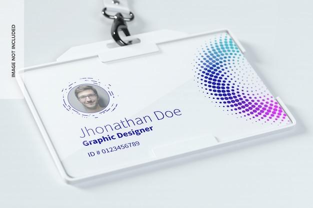 Maquete de cartão de identificação horizontal