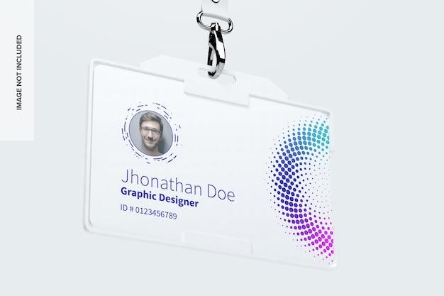 Maquete de cartão de identificação horizontal Psd Premium