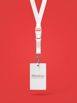 Maquete de cartão de identificação moderna