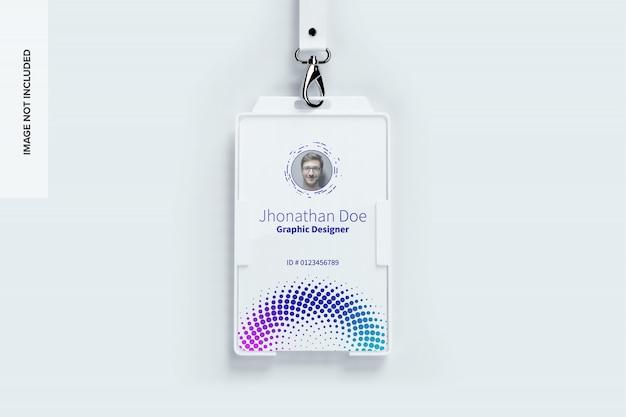 Maquete de cartão de identificação vertical