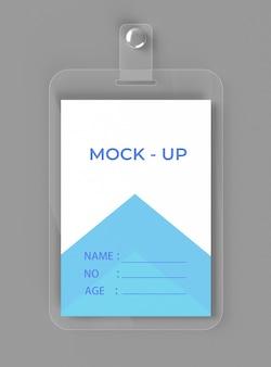 Maquete de cartão de identificação