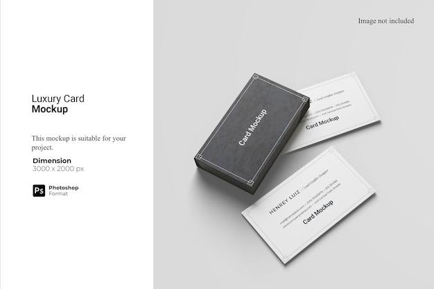 Maquete de cartão de luxo