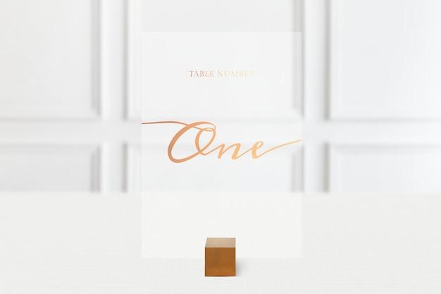Maquete de cartão de mesa para reserva de restaurante
