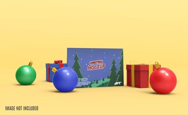 Maquete de cartão de natal renderização em 3d