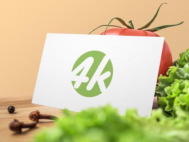 Maquete de cartão de negócios de alimentos