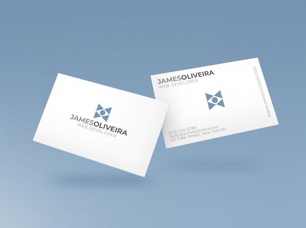 Maquete de cartão de negócios