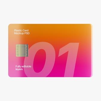Maquete de cartão de plástico
