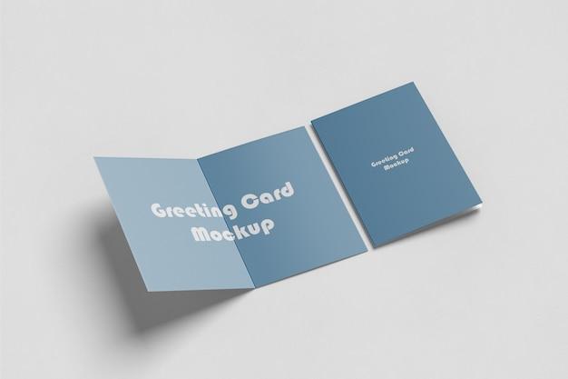 Maquete de cartão de saudação / convite