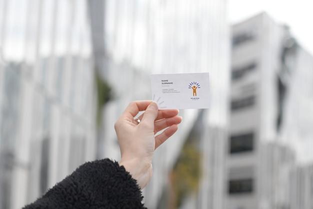 Maquete de cartão de serviços de rh
