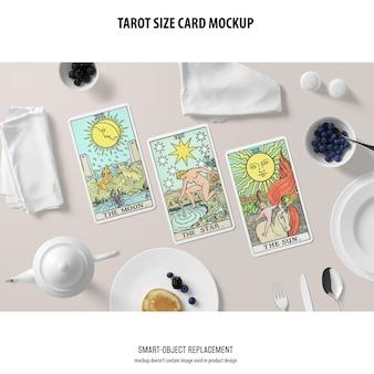 Maquete de cartão de tarô