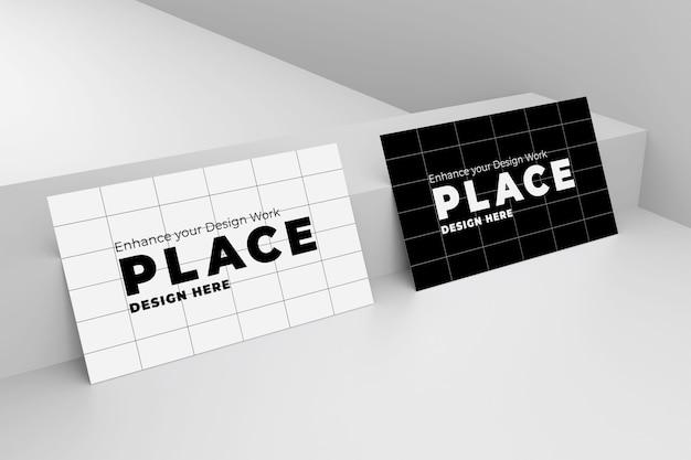 Maquete de cartão de visita 3d com design realista