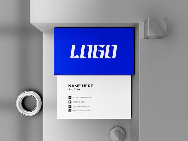 Maquete de cartão de visita 3d render premium psd