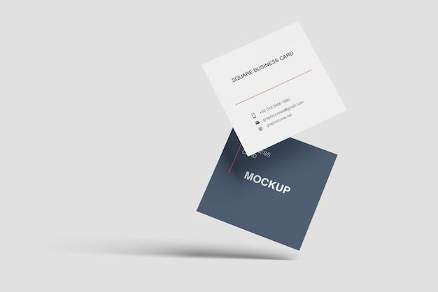 Maquete de cartão de visita a voar