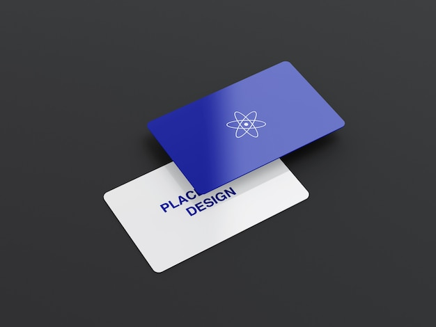 Maquete de cartão de visita arredondado moderno