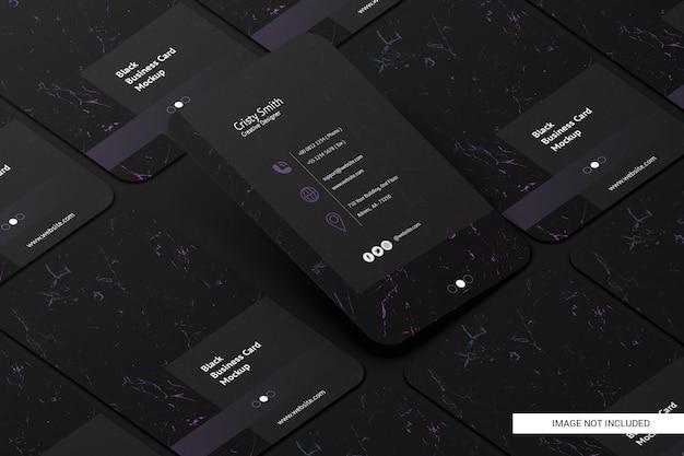 Maquete de cartão de visita arredondado preto