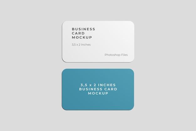 Maquete de cartão de visita arredondado