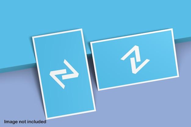 Maquete de cartão de visita azul e branco