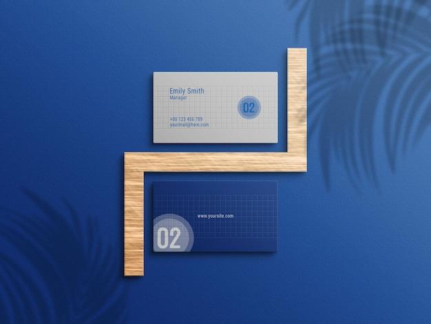 Maquete de cartão de visita azul