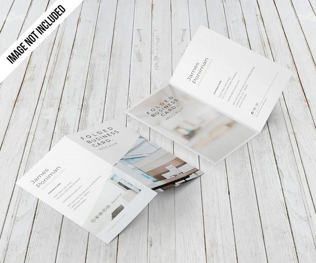 Maquete de cartão de visita bifold