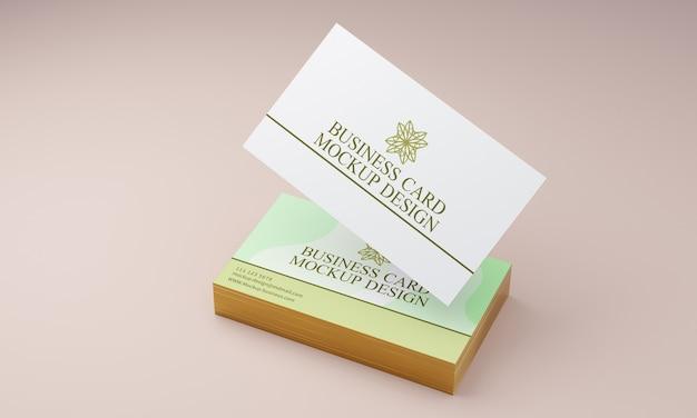 Maquete de cartão de visita com bordas douradas