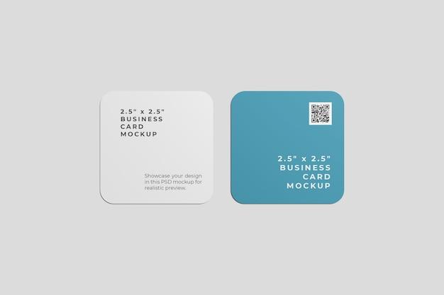 Maquete de cartão de visita com canto arredondado
