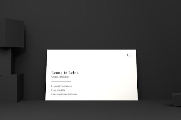 Maquete de cartão de visita com cubo