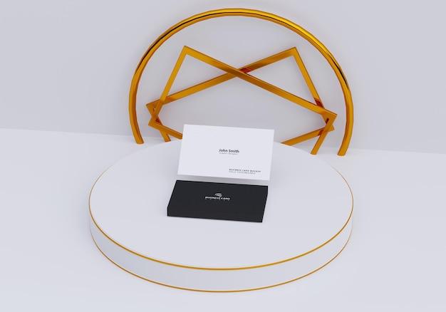 Maquete de cartão de visita com design de pódio