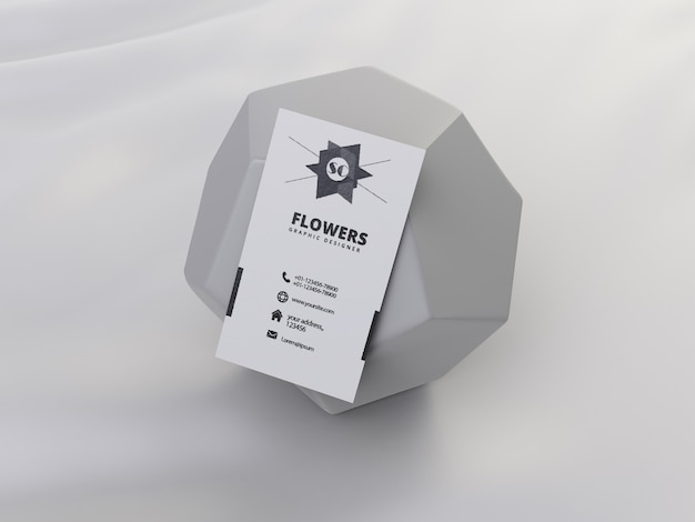 Maquete de cartão de visita com forma geométrica