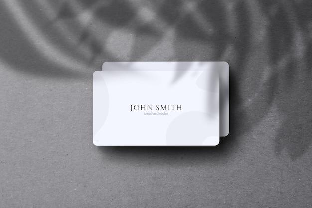 Maquete de cartão de visita com sombra