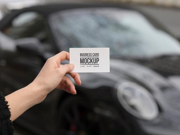 Maquete de cartão de visita de aluguel de carro