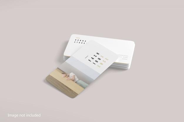 Maquete de cartão de visita de canto arredondado