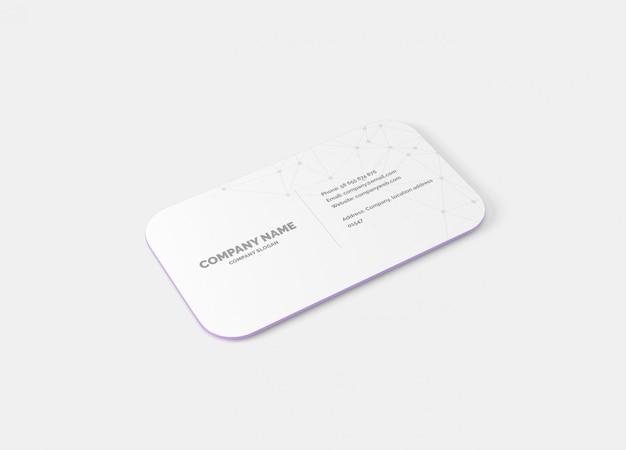 Maquete de cartão de visita de canto redondo de 10 mm