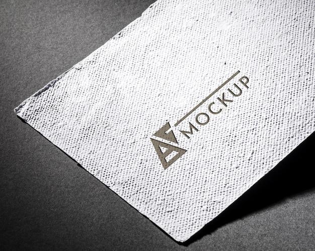 Maquete de cartão de visita de design e palavra