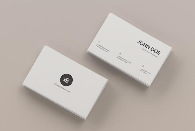 Maquete de cartão de visita de duas pilhas