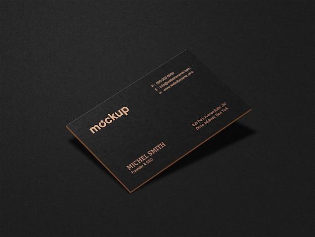 Maquete de cartão de visita de luxo de um lado