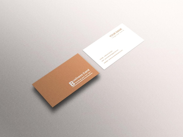 Maquete de cartão de visita de luxo moderno