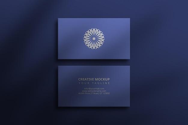 Maquete de cartão de visita de luxo premium photoshop