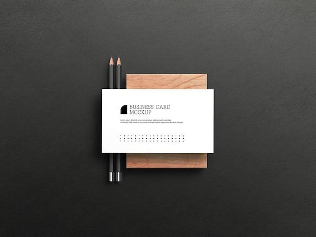 Maquete de cartão de visita de luxo